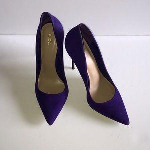Aldo Purple Suede Pumps